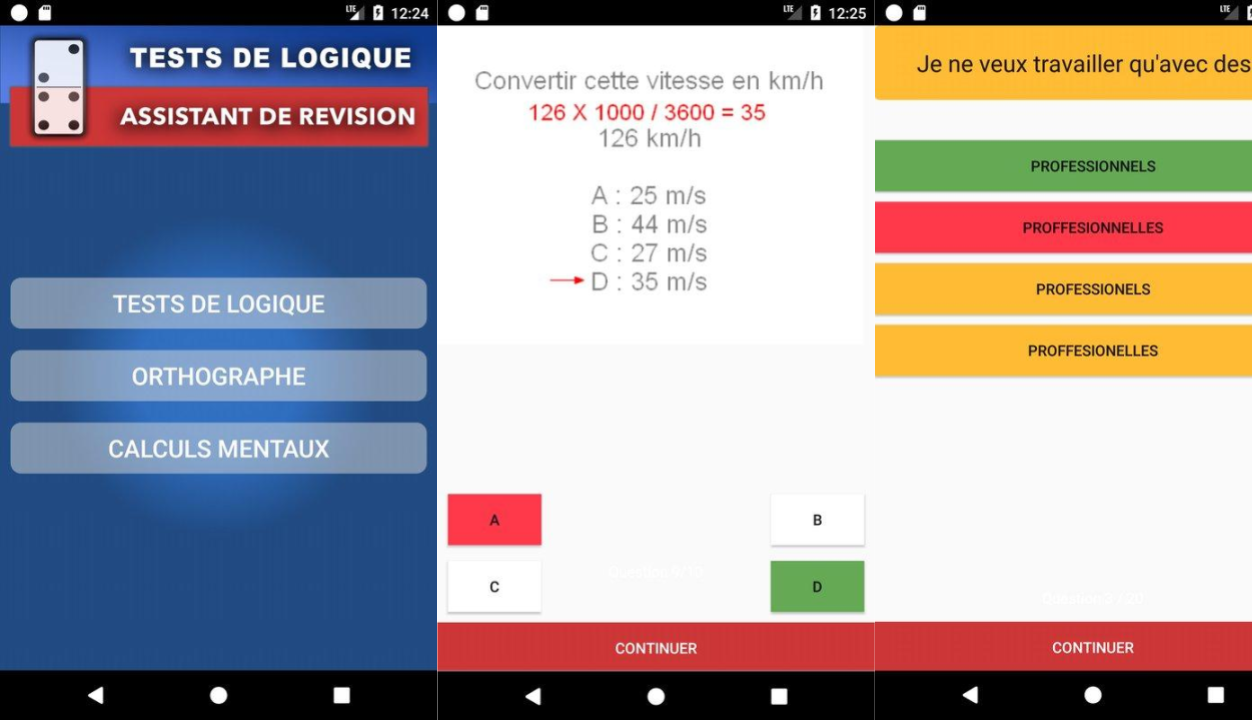 Test de logique APK - Applications Emploi